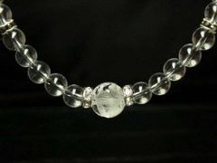 プラスエネルギーを集める 五本爪皇帝龍本水晶×本水晶数珠ネックレス