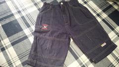 ミッキーワンポイント・半ズボン120・紺