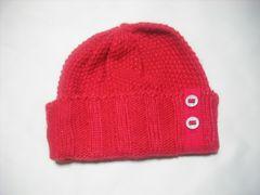 wb669 ROXY ロキシー ニット帽 ビーニー 赤