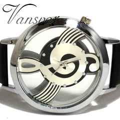 新品・未使用★Vansvar 美しい音符【スケルトン】腕時計★