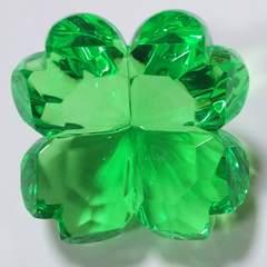 【未使用】アクリルアイス*クローバー*緑色