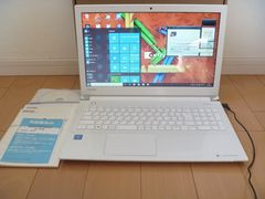 2016年モデルTOSHIBA dynabook リュクスホワイトWin10使用頻度少