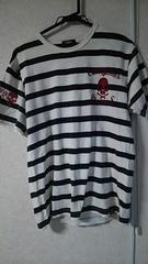 ボーダー★カジュアル★ドクロ★Tシャツ★size L
