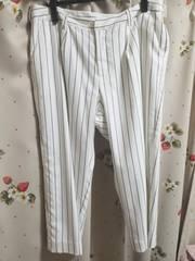 美品 ストライプホワイトパンツ W88