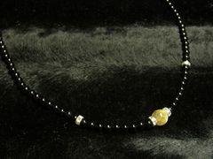 人生の壁を超える力を!!ゴールドルチル×ブラックオニキス数珠ネックレス