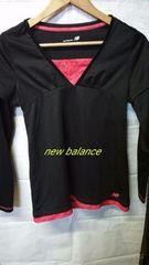 new balance*重ね着風長袖カットソー L