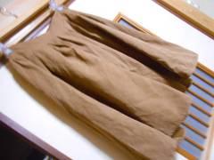 レトロガール*薄手スウエードフレアスカート★クリックポスト164円