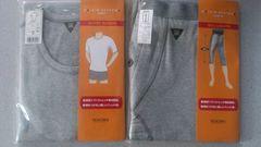 激安80%オフまとめ売り、レナウン、Tシャツ、レギンス(新品タグ、灰、日本製、M)