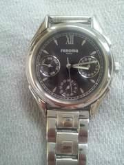 美品 電池切れ レノマ PARIS 3ツ目ダイヤル 腕時計