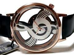 新品・未使用 1スタ★Geekthink 美しい音符【スケルトン】腕時計