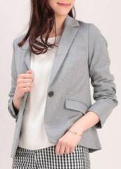 VIS☆ポンチ素材シングルジャケット/定番カットソー素材