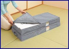 ◆2個組◆竹炭着物収納ケース 2層式(消臭/吸湿/湿気)◆
