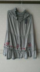 新品タグ付☆natural couture 刺繍2wayスカート