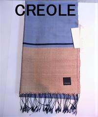 送無 CREOLE クレオール シルク 100% 手織り 草木染 ストール 新品★dot