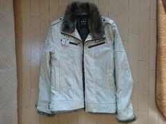 Double focus 合皮 ジャケット LLサイズ ホワイト