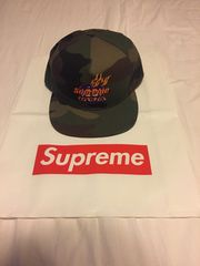 supreme 17fw Fire 5-Panel cap 迷彩