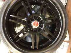weds BVILLENS18インチブラックアルミホイールタイヤ4本セット