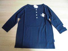 新品■Lサイズ■ヘンリーネックカットシャツ■ネイビ