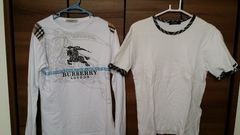 バーバリーロンT、Tシャツセット。
