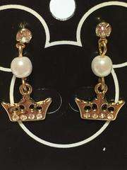 Disney プリンセス 王冠 クリスタル付き ピアス ゴールド DP#08