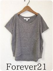 ((( Forever21 )))霜降りTEE gray/S