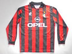 1994-1995ロットサッカーACミランシャツユニフォームイタリア製S