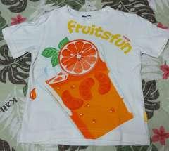 ムージョンジョン☆フルーツ柄のTシャツ☆size100日本製