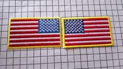 NO.146 アイロンワッペン パッチ アメリカ 国旗
