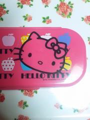 セール☆キティ☆カトラリーセット☆スプン☆フォーク☆箸☆ピンク☆リンゴ☆