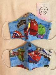 26:チャギントン☆子供用立体マスク2枚セット ハンドメイド