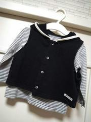 80 コムサイズム★ベストと長袖カットソー おまとめセット 黒
