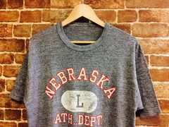 実寸L!80s ビンテージ ネブラスカ大学 カレッジ Tシャツ USA 古着 アメカジ f&e