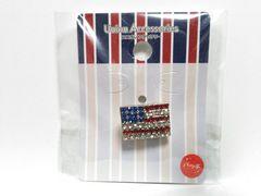 (24)新品未開封アメリカ国旗ラインストーンピンバッチ定価¥698