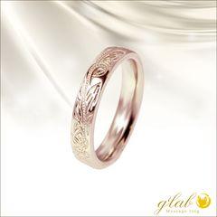 ハワイアンジュエリーピンクゴールドリング指輪