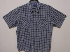 即決USA古着●鮮やかチェックデザイン半袖シャツ!ヴィンテージアメカジ