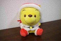 サンタプーさんぬいぐるみ★ディズニー★クリスマス