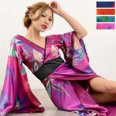 グラデーション ロング着物ドレス 和柄 衣装 ダンスよさこい 花魁 キャバ