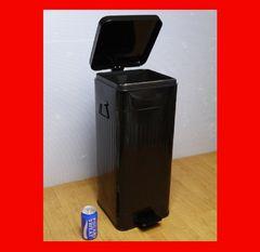 激安★スチール製ダストボックス ペダル式★ブッラク★ゴミ箱