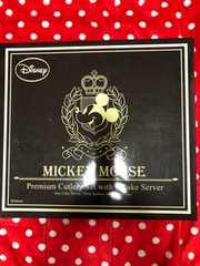 ミッキーマウス プレミアムケーキサーバー付きカトラリーセット