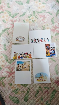 MIKEY AND MINNIE   70TH  HAPPY  YEAR  絵入りハガキ