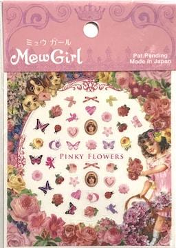 Mew Girl ミュウガール ネイルシール/PINKY FLOWERS