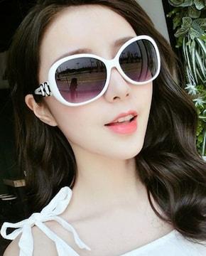 サングラス 2019最新モデル UVカット◆専用眼鏡ケース付◆白色