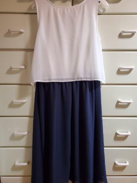 大きいサイズ☆4L☆レース調ワンピース☆紺☆フォーマル使用可 < 女性ファッションの