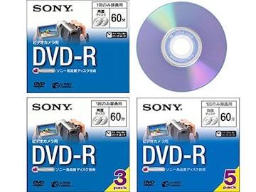 人気急上昇!ビデオカメラ用DVD-R(8cm) 3枚パック