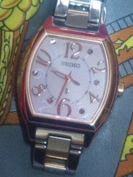 SEIKOルキアlkソーラー電波腕時計サクラピンクゴールド定価約5万円