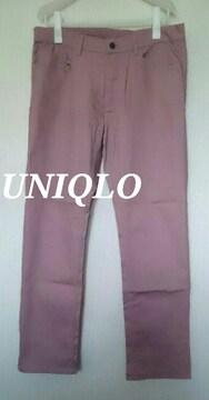 【UNIQLO】ユニクロ ストレッチスリムフィットジーンズ 34(86.5〜88�p)/Pink