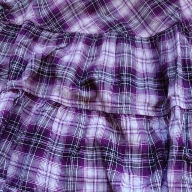 HUSHUSH☆チェック柄ワンピース☆size110☆紫 < ブランドの