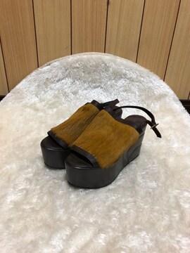 新品FILIPE SOUSA★天然皮革ハラコサンダル