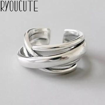 トリプルリング 指輪 リング フリーサイズ ノーブランド