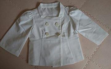 新品 白 5部袖ジャケット
